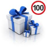 Выбрать подарок за покупку на 100 рублей