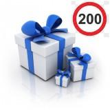 Выбрать подарок за покупку на 200 рублей